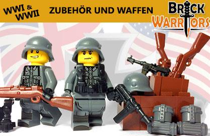 BrickWarriors -  Custom Zubehör und Waffen