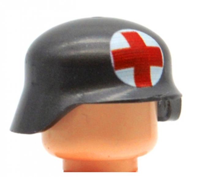 Brikblok German Helmet with Red Cross