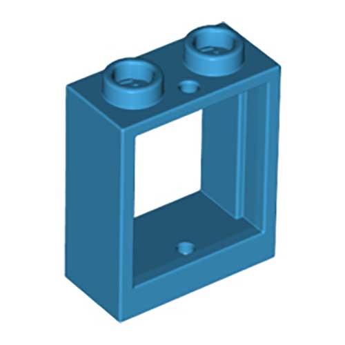 LEGO 60592 2 x WINDOW 1 x 2 x 2 WITH CLEAR GLASS 60601 DARK BLUE EARTH BLUE